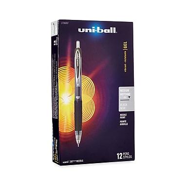 uni-ball® Signo 207 Retractable Gel Pens, 0.7 mm Medium Needle, Black, 12/pk (1736097)