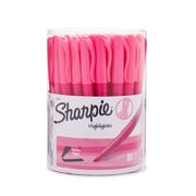 Sharpie® Accent Pink Ribbon Pocket Highlighter, Chisel, Fluorescent Pink, 36/pk (1741911)