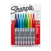 Sharpie® Retractable Permanent Marker, Ultra Fine Point, Assorted, 8/pk (1742025)