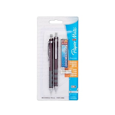 Paper Mate® No. 2 Mechanical Pencils, 0.9 mm, Black, 2/pk (1750542)