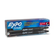 Expo® Click Dry-Erase Marker, Fine Point, Black, 12/pk (1751669)