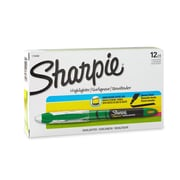 Sharpie® Accent Liquid Pen Style Highlighter, Chisel Tip, Fluorescent Green, 12/pk (1754468)