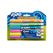 Expo® Washable Dry Erase Marker, Fine Point, Assorted Colors, 6/pk (1761203)