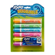 Expo® Washable Dry Erase Marker, Bullet Tip, Assorted Colors, 6/pk (1761209)