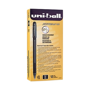 uni-ball® Jetstream 101 Rollerball Pen, Bold Point, Black, 12/pk (1768011)