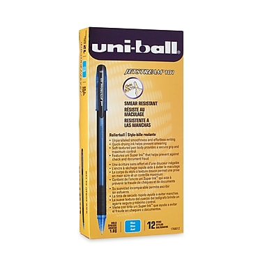 uni-ball® Jetstream 101 Rollerball Pen, Bold Point, Blue, 12/pk (1768012)