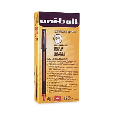 uni-ball® Jetstream 101 Rollerball Pen, Bold Point, Red, 12/pk (1768013)
