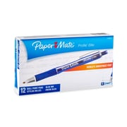 Paper Mate® Profile® Elite Pens, 1.4 mm, Blue Ink, 12/pk (1776373)