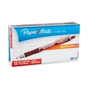 Paper Mate® Profile® Elite Pens, 1.4 mm, Red Ink, 12/pk (1776374)