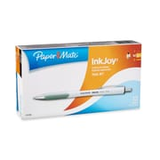 Paper Mate® InkJoy 700 Ballpoint Retractable Pen, Medium Point, White Barrel/Black Ink, 12/pk (1781580)