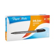 Paper Mate® InkJoy 100 Ballpoint Stick Pens, Medium, Black, 12/pk (1783151)