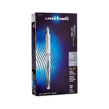 uni-ball® Vision Elite BLX Series, 0.8 mm, Green/Black,12/pk (1832398)