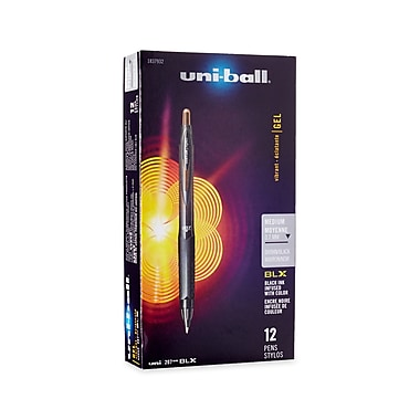 uni-ball® 207 BLX Retractable Gel-Ink Pens, Medium, Brown, 12/pk (1837932)