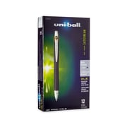 uni-ball® Jetstream RT BLX Retractable Rollerball Pen, Bold Point, Brown/Black, 12/pk (1858846)