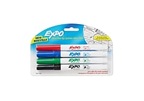 Expo® Low Odor Dry-Erase Markers, Ultra Fine Point, Assorted, 4/pk (1871133)