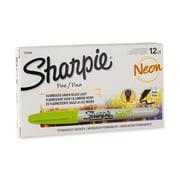 Sharpie Neon Permanent Markers, Fine Point, Neon Green, Dozen