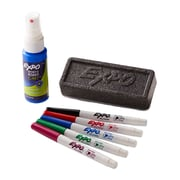 Expo® Low Odor Dry-Erase Marker Set, Ultra Fine Tip, Assorted Colors, 5/pk (1884310)