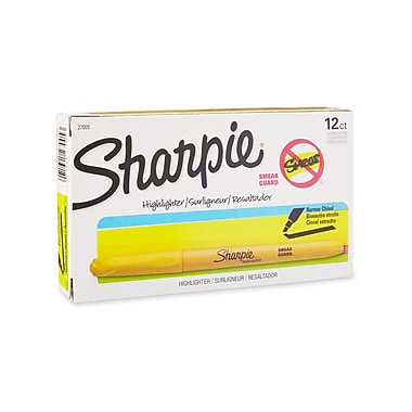 Sharpie ® Accent Pocket Style Highlighter, Chisel Tip, Yellow