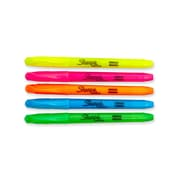 Sharpie® Accent® Pocket-Style Highlighters, Chisel Tip, Assorted Colors, 5/pk (27075)