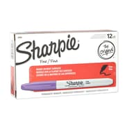 Sharpie® Permanent Markers, Fine Tip, Purple, 12/pk (30008)