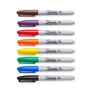 Sharpie® Fine Point Permanent Markers, Assorted, 8/pk (30078)