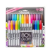 Sharpie® Electro Pop Limited Edition Fine Point Permanent Markers, Assorted, 24/Pack