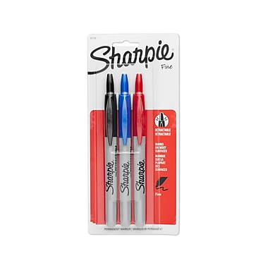 Sharpie® Retractable Fine Point Permanent Markers