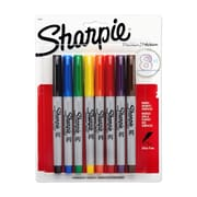 Sharpie® Ultra Fine Point Permanent Markers, Assorted, 8/pk (37600PP)