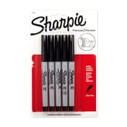 Sharpie® Ultra Fine Point Permanent Markers, Black, 5/pk (37665PP)