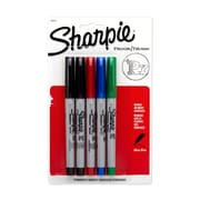 Sharpie® Ultra Fine Point Permanent Markers, Assorted, 5/pk (37675PP)