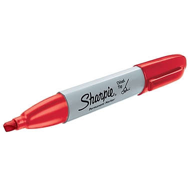 Sharpie® Chisel Tip Permanent Markers, Red, 12/pk (38202)