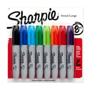 Sharpie® Chisel Tip Permanent Markers, Assorted, 8/pk (38250PP)