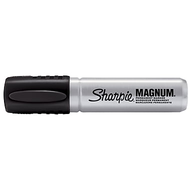 Sharpie Magnum Chisel Tip Permanent Marker, Black, Each