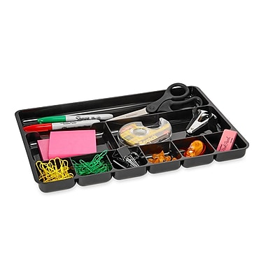 Rubbermaid Regeneration® Black Plastic Desk Collection, (Recycled)