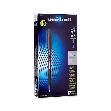 uni-ball® Onyx Rollerball Pen, Fine Point, Blue, 12/pk (60145)