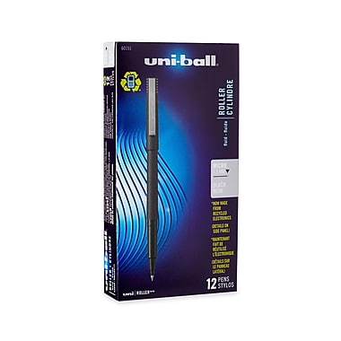 uni-ball® Roller Pen, Micro Point, Black, 12/pk (60151)