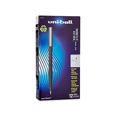 uni-ball® Roller Pen, Micro Point, Green, 12/pk (60154)