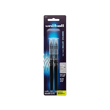 uni-ball® Vision Elite Rollerball Pen Refills, Bold 0.8 mm, Black, 2/pk (61233PP)