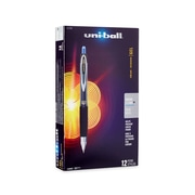 uni-ball® 207 Retractable Gel Pens, Micro Point, Blue, 12/pk (61256)