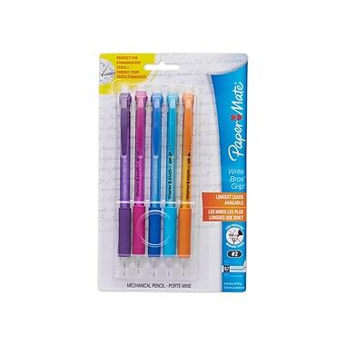 Paper Mate® Write Bros.® Grip Mechanical Pencils, 0.7mm, Assorted Barrel Colors, 5/pk (61377)
