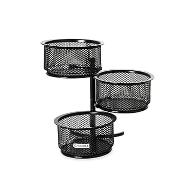 Rolodex® Black Mesh Three-Tier Clip Dish