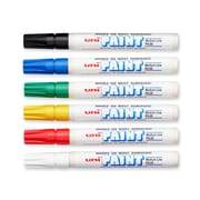 uni® Paint Markers, Medium Tip, Assorted, 6/pk (63630)
