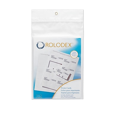 Rolodex® Blank Laser and Inkjet Rotary Cards, 2 1/4