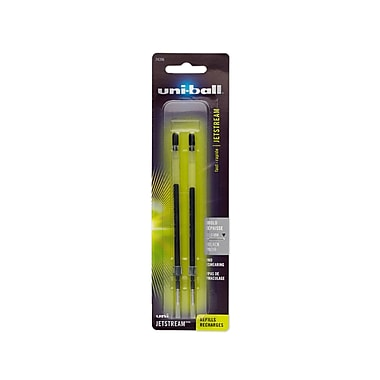 uni-ball® Jetstream Rollerball Pen Refills, Bold, Black, 2/pk (74396PP)