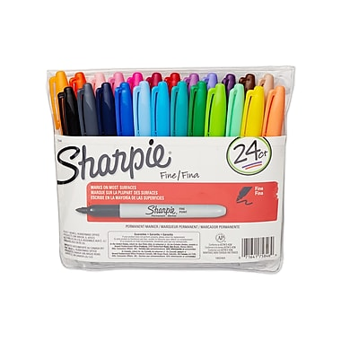 Sharpie® Fine Point Permanent Markers, Assorted Fashion Colors, 24/pk (75846)