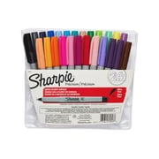 Sharpie® Permanent Markers, Ultra Fine Point, Assorted Colors, 24/pk (75847)