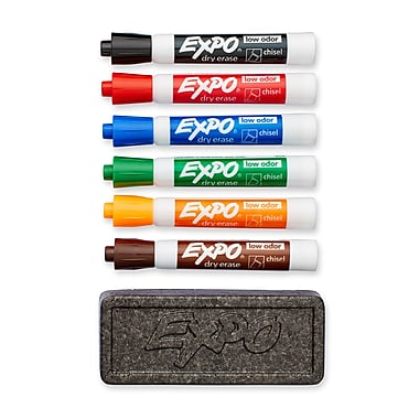 Expo® Low-Odor Dry-Erase Organizer Kit, Chisel Tip, Assorted Colors, 6/pk (80556)