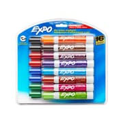 Expo® Low Odor Dry-Erase Markers, Chisel Tip, Assorted Colors, 16/pk (81045)