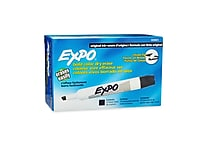 Expo® Chisel Tip Dry-Erase Markers, Black, 12/pk (83001)