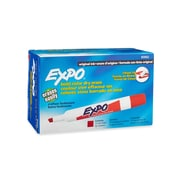 Expo® Chisel Tip Dry-Erase Markers, Red, 12/pk (83002)